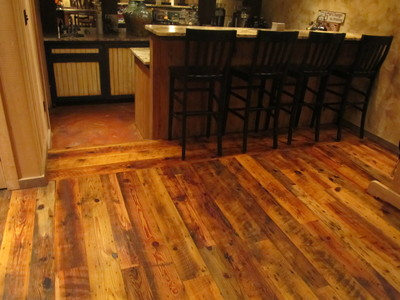 wide plank heart pine flooring