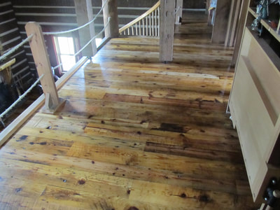 Reclaimed Long Leaf Heart Pine Wide Plank Flooring