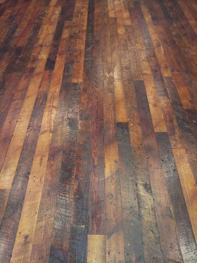 Reclaimed Heart Pine Flooring Dirty Top