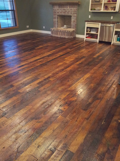 Reclaimed Long Leaf Heart Pine Flooring