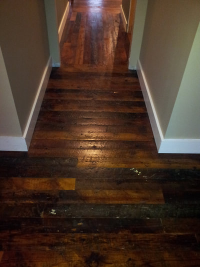 Reclaimed Heart Pine   floorboards