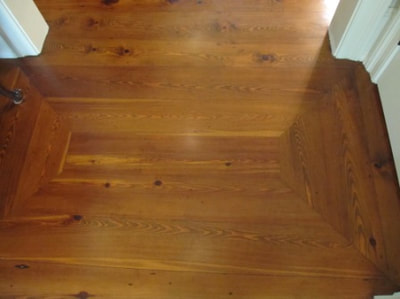 wide plank knotty pine flooring