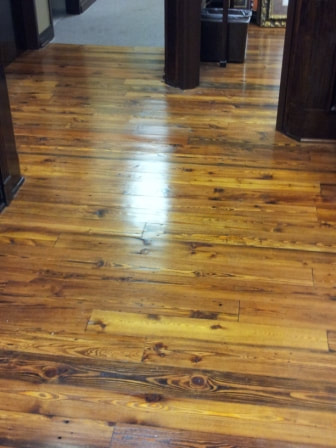 old heart pine flooring